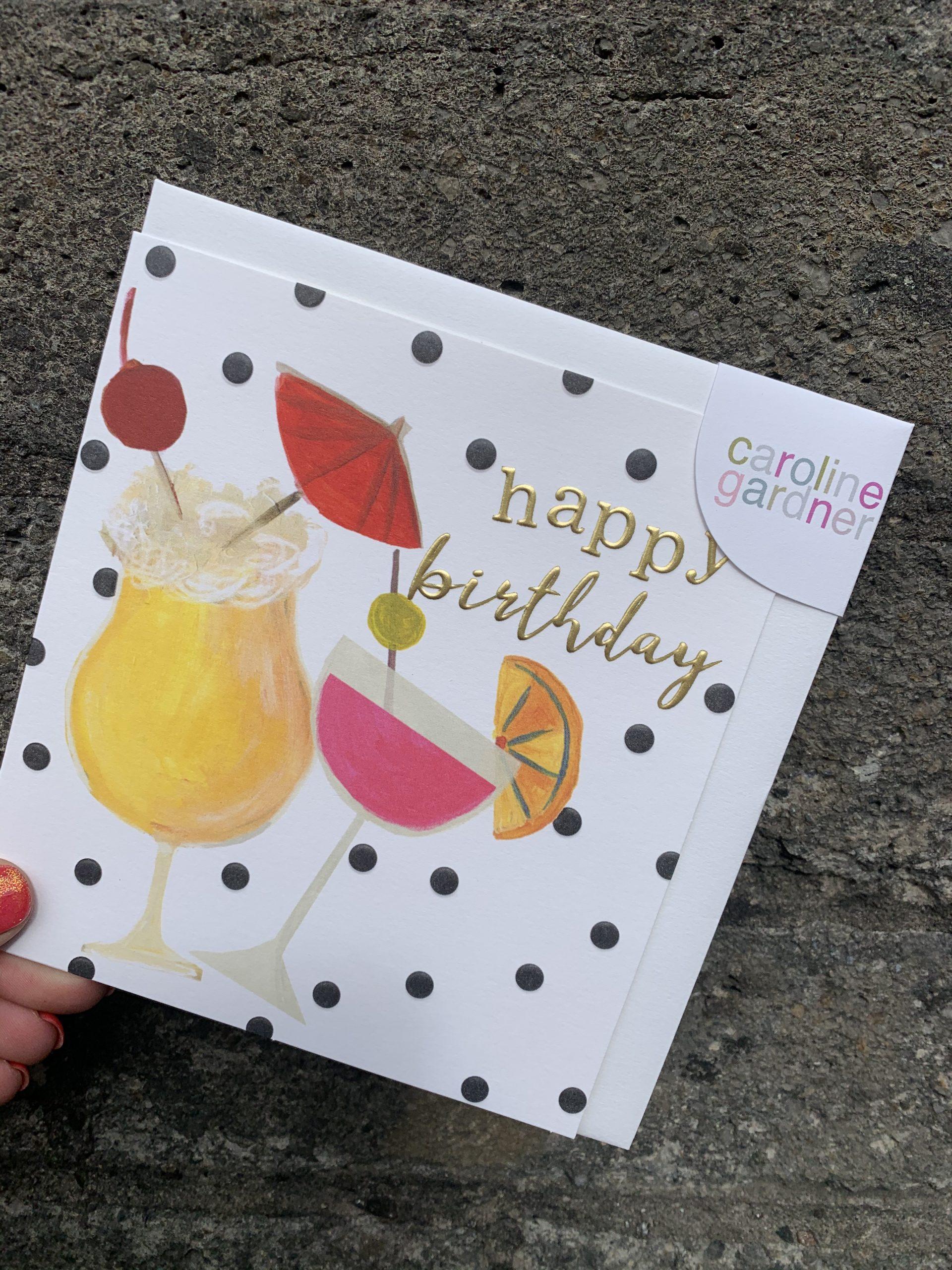 Happy Birthday Cocktails Card Irene S Florist